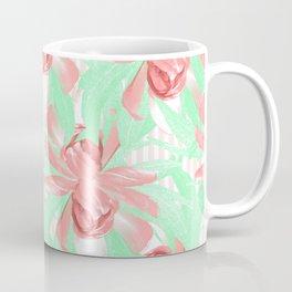 Candy Stripe Pink Blush Floral Coffee Mug
