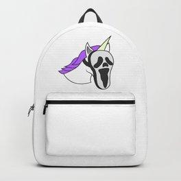 Unicorn Mask Human scary Halloween Dress Up Carnival Kids Gift Idea Backpack