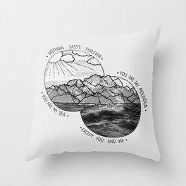 mountains-biffy clyro Throw Pillow