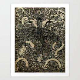 Albatross {black & white}. Art Print