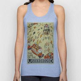 Vintage poster - London Underground Unisex Tank Top