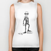 karl Biker Tanks featuring Karl Lagerfeld by David Cessac