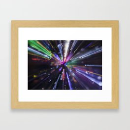 Abstract light explosion Framed Art Print