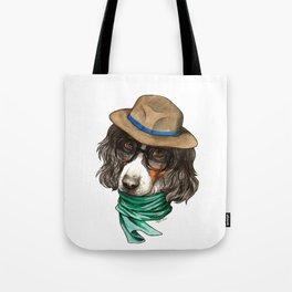 Hipster Spaniel Tote Bag