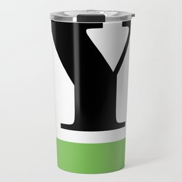 Monogram Letter Y  (color block) Travel Mug