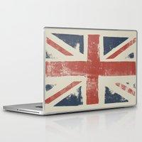 union jack Laptop & iPad Skins featuring Union Jack by David Hand