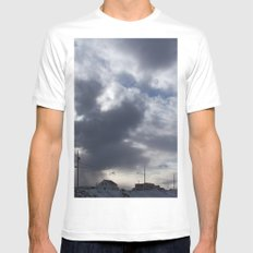 Witch in the clouds MEDIUM White Mens Fitted Tee