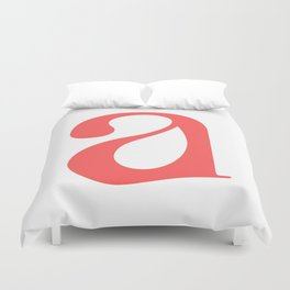 lowercase a Duvet Cover