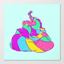 Unicorn poop Canvas Print