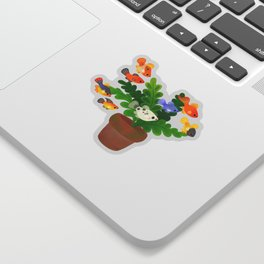 Fresh water fish and plants 2 Sticker
