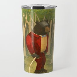 Sharp Dressed Bear Travel Mug