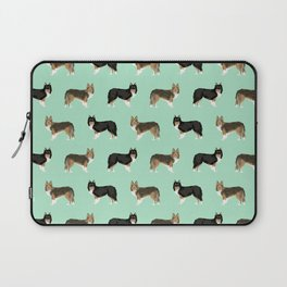 Shetland Sheep Dog pattern custom dog gifts for unique dog breed pet friendly dogs Laptop Sleeve