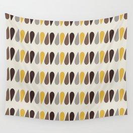 Pattern black brawn yellow Wall Tapestry