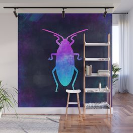 COCKROACH IN SPACE // Animal Graphic Art // Watercolor Canvas Painting // Modern Minimal Cute Wall Mural