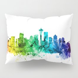 Seattle Washington Skyline Pillow Sham