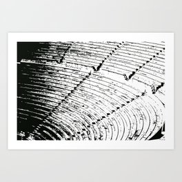 Steps stamp Art Print