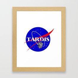 Tardis NASA Parody Framed Art Print
