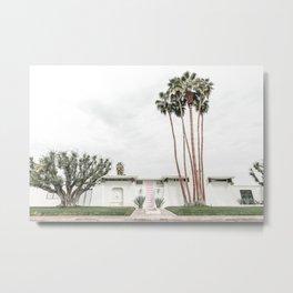 That Pink Door House Palm Springs,California Metal Print