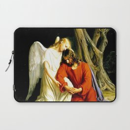 Carl Heinrich Bloch Angel With Jesus Christ Before Arrest in the Garden of Gethsemane Laptop Sleeve