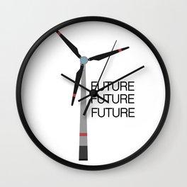 Wind turbine Wall Clock
