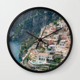 Italy. Amalfi Coastline Wall Clock