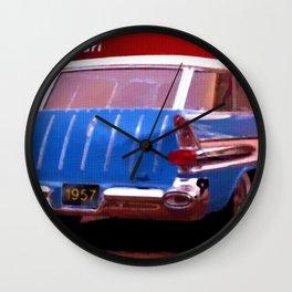 1957 Pontiac Safari Wall Clock