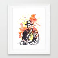 indiana jones Framed Art Prints featuring Indiana Jones by idillard