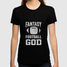 Fantasy Football God Trophy Funny Apparel T-shirt