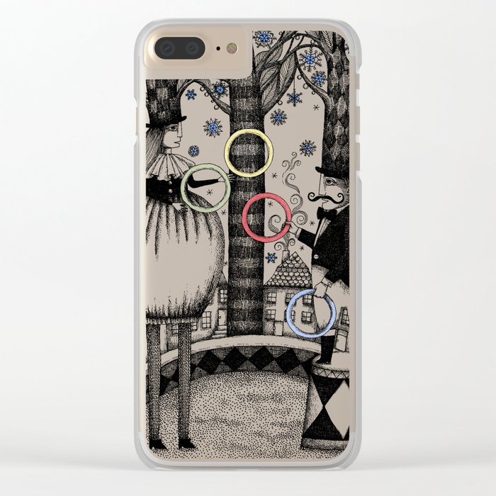 Winter Circus Clear iPhone Case