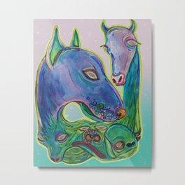 Animal Sprites Metal Print