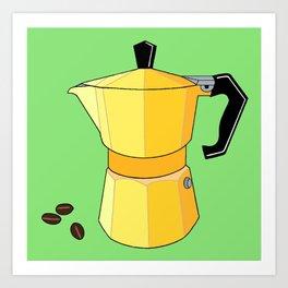 Yellow Rainbow Espresso Art Print