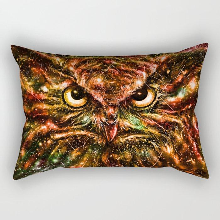 Space Owl Rectangular Pillow