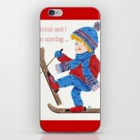 ski iPhone & iPod Skins featuring Ski Boy by iCraftCafé