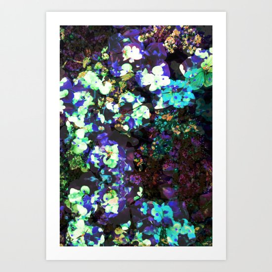 FLORAL WATERS Art Print