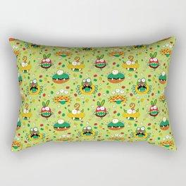 Monster Mash Green Rectangular Pillow