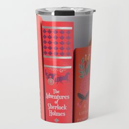 Shelfie in red Travel Mug