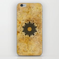 Ebony Sun Mandala iPhone & iPod Skin