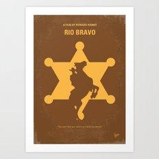 No322 My Rio Bravo minimal movie poster Art Print
