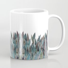 Plants decorations shades of green and purple watercolor Coffee Mug