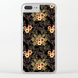 The floral pattern . Clear iPhone Case