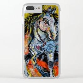 Horse Punk Clear iPhone Case
