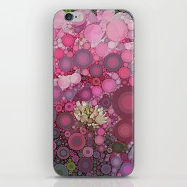 Pink Flowers at Twilight Abstract iPhone Skin