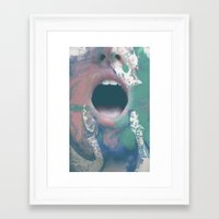 mouth Framed Art Prints featuring mouth by Bec Scerri