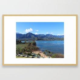 CLIFFS & CORAL Framed Art Print