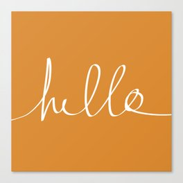 Hello, Pumpkin Canvas Print