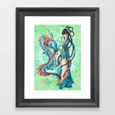 Blue dragon Framed Art Print