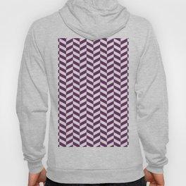 Byzantium Purple Herringbone Pattern Hoody