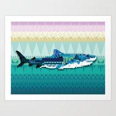 Paralleloshark Art Print