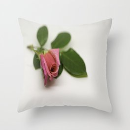 Solitairy Rose Throw Pillow
