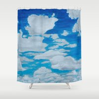 brooklyn Shower Curtains featuring Brooklyn by Tara Andris
